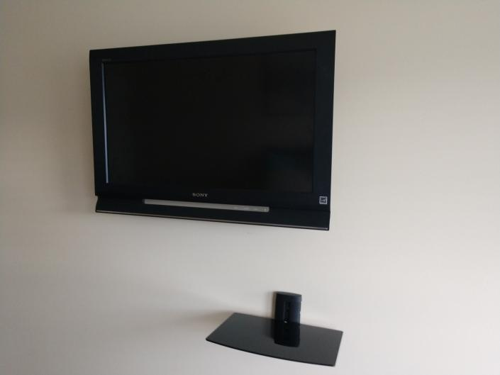 This is an after photo when the tv was mounted.