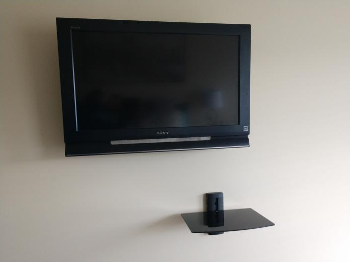 This finished project shows the tv that is mounted.